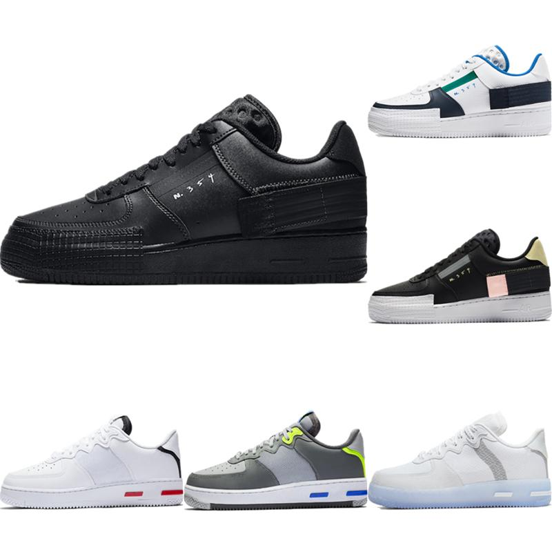 Con la scatola 2020 AF1 Reagire ghiaccio seta traspirante scarpa da basket Originals AF1 tipo antiscivolo in gomma incorporato Zoom Air Athletic Shoe