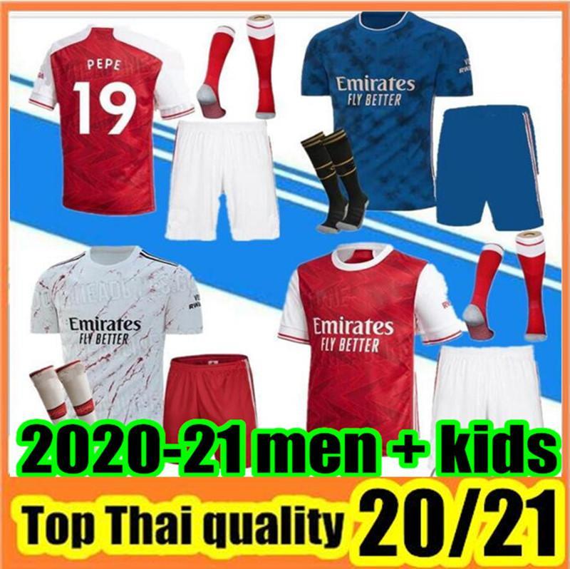 Men Kids Kit 20 21 Maillot de oep Pep Soccer Jersey 2020 2021 AR Maillot De Foot Футбольная рубашка