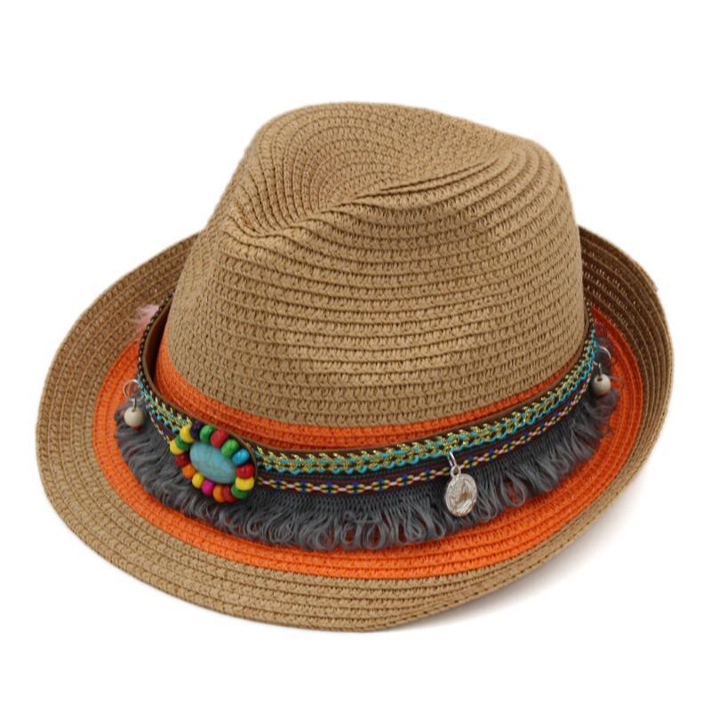 Mistdawn Unisex yükselişe Brim Trilby Chapeau Plastik Roll-up Hasır Şapka Fedora Cap İlkbahar Yaz Plaj Sokak Partisi Açık Sunhat
