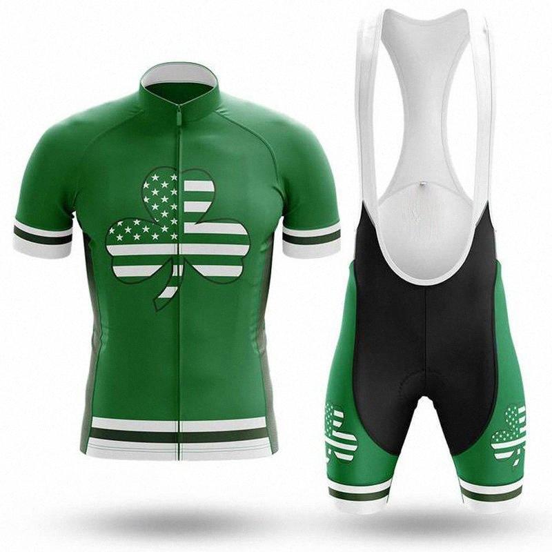 SPTGRVO LairschDan grün kompletter Sommer Radsport 2020 Radsport-Sets atmungs Fahrrad-Kit ciclismo Männer Jersey MTB-Outfit a2vO #