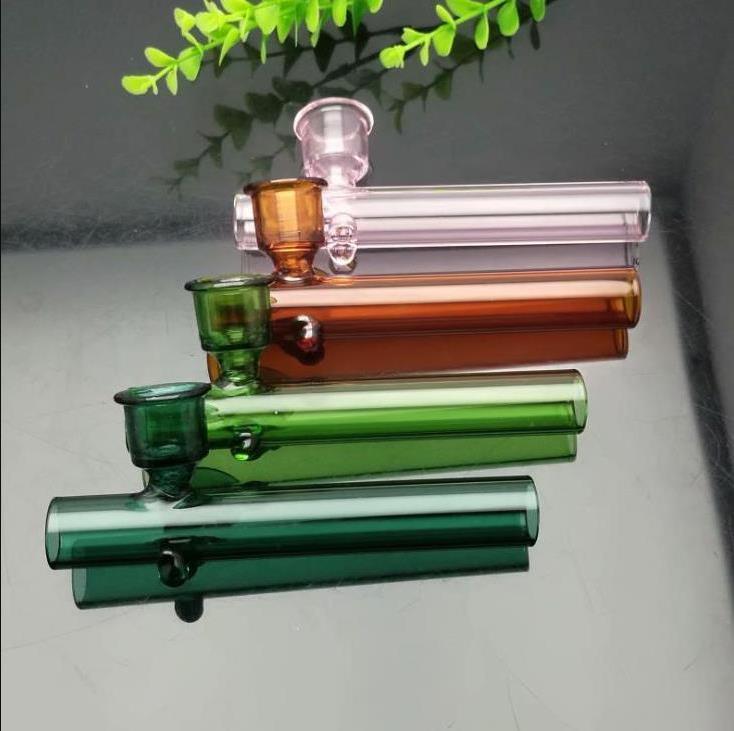 neues Europa und Americaglass Rohr Sprudler Pfeife Wasser Glas bong Glaspfeife mit farbiger Glocke Mund
