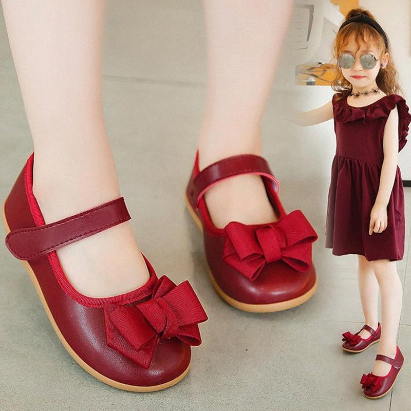 Девочка принцесса обувь Hollow бабочка наростов балетки обувь Bowknot Soft Soled Для рождения партии Подарки л mdrg #