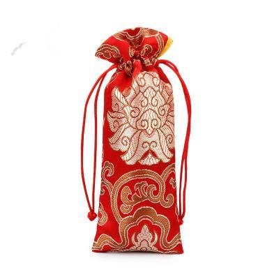 Luxus Lengthen Kordelzug Geschenk-Beutel High End Kamm Schmuck Halskette Aufbewahrungstasche Brokat Craft Verpackung Taschen