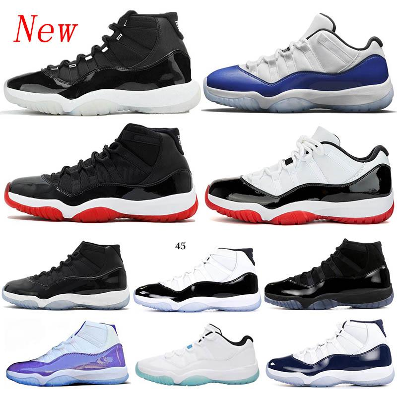 25th Anniversary 11 11s men women basketabll shoes Gamma Legend Blue Low WMNS Concord 45 withe bred Space Jam sports sneakers