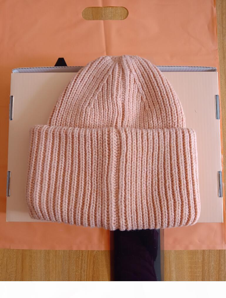 Blok Nakış Beanie Kafatası Caps kalın kış çift severler ebeveyn-çocuk şapka gelgit sokak hip-hop yün kap Yetişkin Chi Sıcak kaşmir örme
