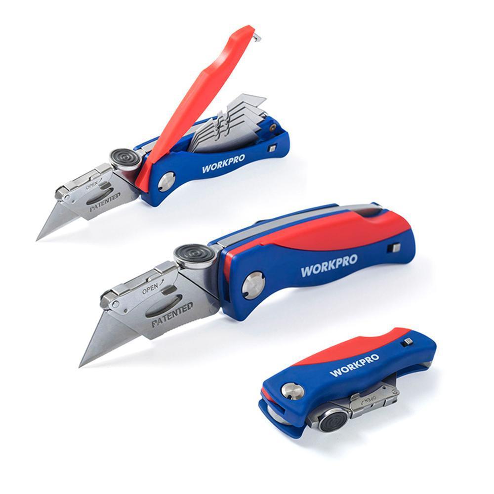 Alta Qualidade faca dobrável eletricista Faca de serviço público para a tubulação cortador de cabo Facas com 5pc Blades em Handle
