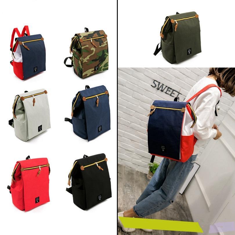 Mommy Backpack Diaper Fralda Bag Multifuncional do tecido do bebê Mochilas Outdoor Viagem Tote Maternidade Grande Enfermagem Armazenamento Bolsas GGA3557