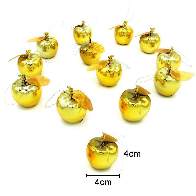 Maçãs Decoração de Natal New 12pcs Árvore do ornamento de suspensão inicial festa de ano novo Eventos Fruit Pendant NE