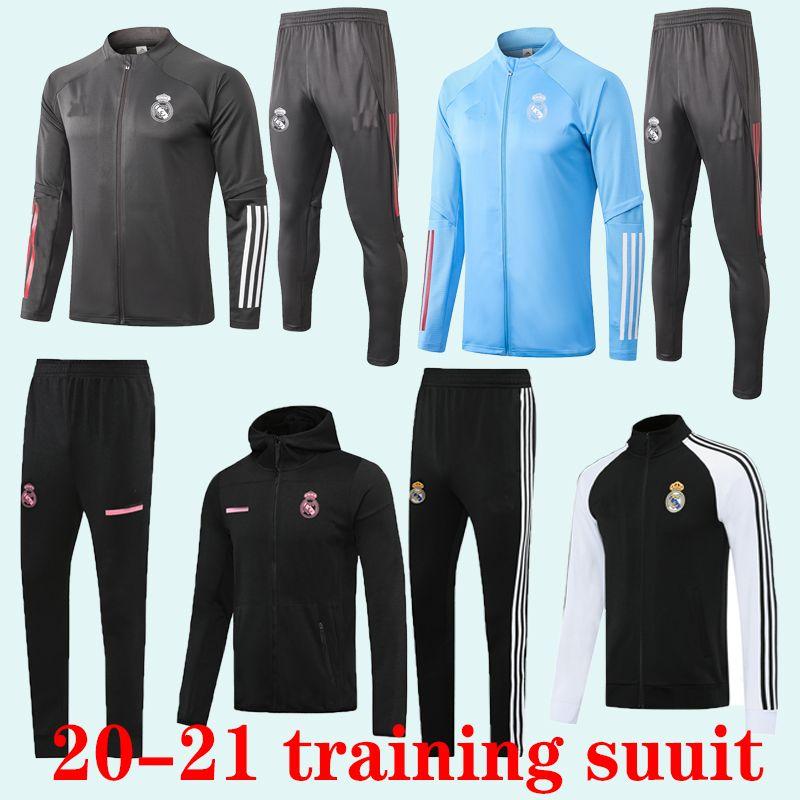 2020 2021 Real Madrid erwachsenen Anzug Männer Fußball chandal Fußball tracksu 20 21 erwachsene Trainingsanzug dünne Hosen Sportswearadult