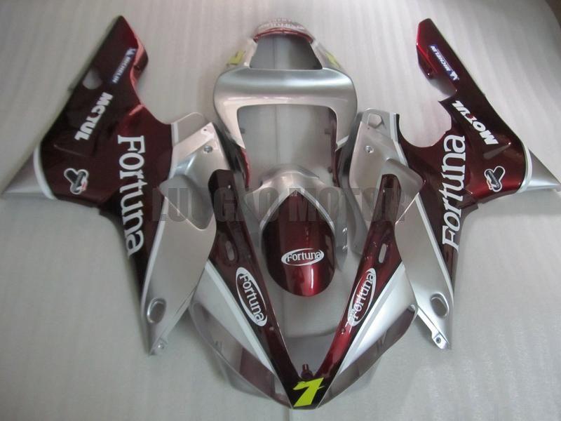 Carenagem kits para YAMAHA YZF R1 carenagens 2000-2001 injeção motocicleta para YZF R1 2000 01 set prata vermelho.