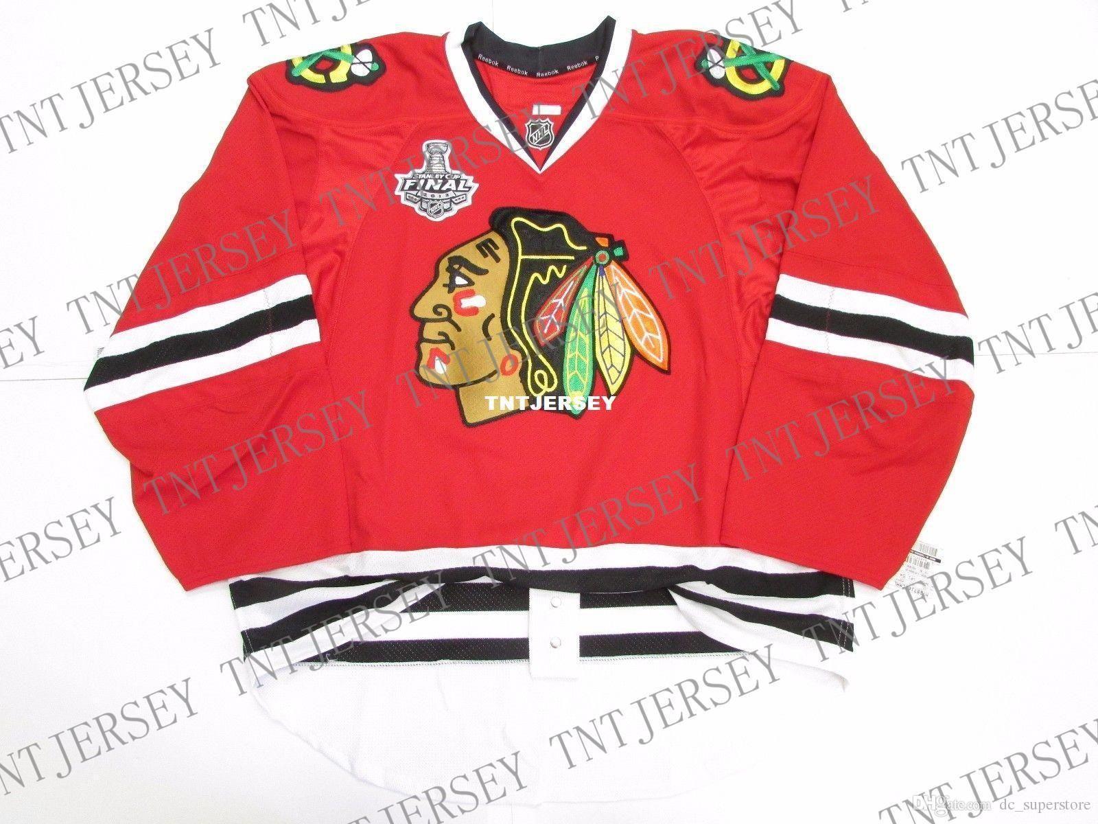 Günstige individuelle Chicago Blackhawks HOME TEAM ISSUE 2013 STANLEY CUP JERSEY eine beliebige Anzahl beliebigen Namen der Männer Hockey Jersey XS-5XL Stich hinzufügen