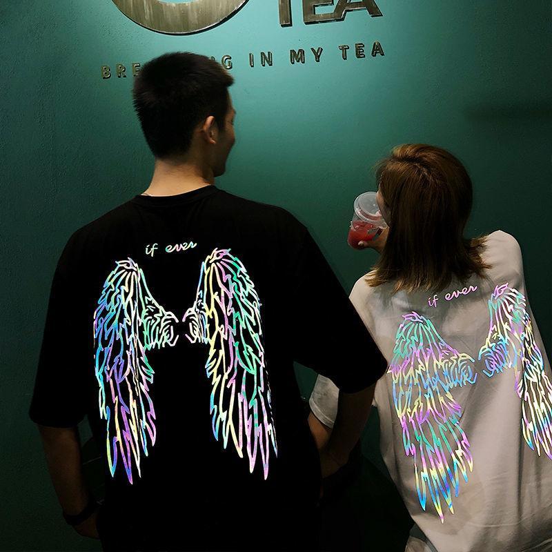 20200715 Amanti indossare ins ala riflettente manica corta T-shirt per gli uomini e le donne
