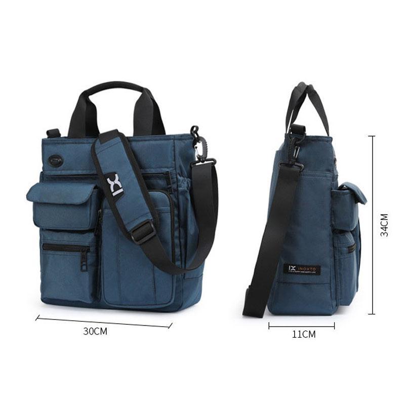 Sac à main en nylon de nylon à l'épaule sac à main étanche Bandbody sac sacs Travail de voyage Grand Capacité de stockage casque Hommes XA666C EBPHG