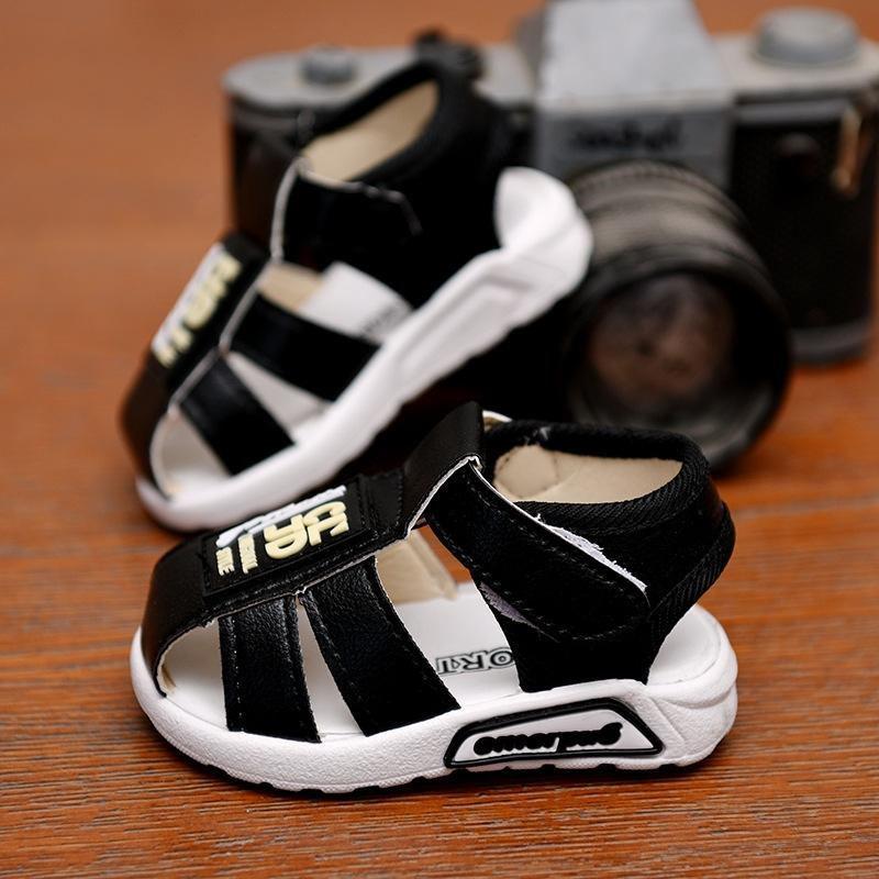 R1tlG Baby 1-3-year-old boy soft bottom 3-6-year-old baby toddler children children Middle child Baotou Sandals children's shoes children's