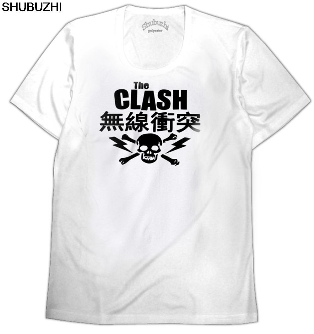 случайные футболки моды мужчин и женщин Футболка японская Skull T-Shirt - Ska New Wave Punk Post Punk Размер евро