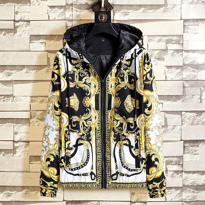 2020SS 폭발 힙합 남성 패션 높은 품질 공상 유럽 미국 스타일의 프린트 T 셔츠 남성 여성의 재킷 비행 재킷이 스타일