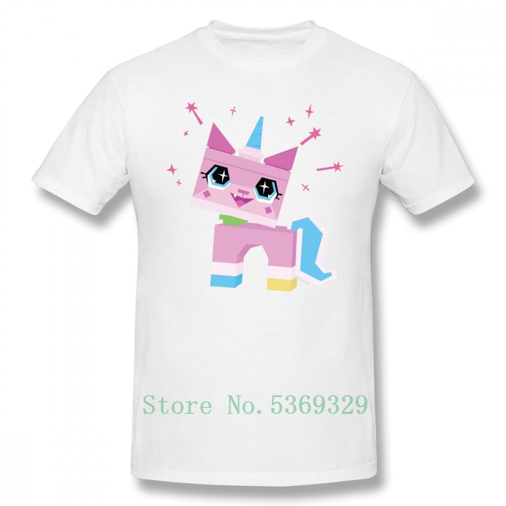 Unikitty Футболка Unikitty Футболка Печать 100% хлопка Tee Shirt Плюс Размер Funny Man Короткие рукава футболки