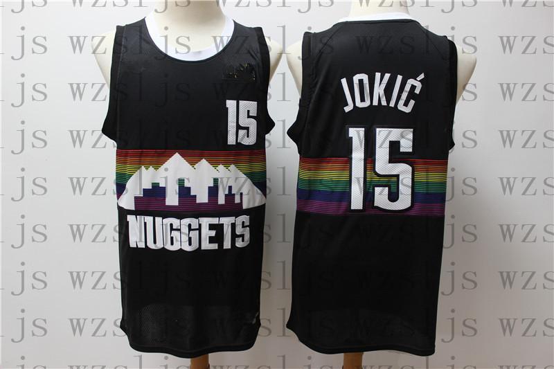 dos homens barato personalizado Jokic 15 Porzingis 6 Gobert 27 Basketball Jersey exterior confortável e respirável Sports Jersey