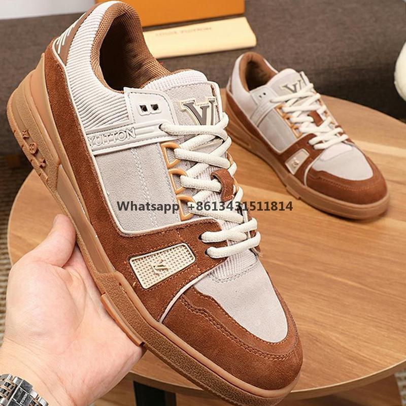 New Mens couro sapatos da moda apartamentos de luxo Sports Footwears respirável sapatos casuais Chaussures Luxo sapatilha Pour Navio Hommes rápido