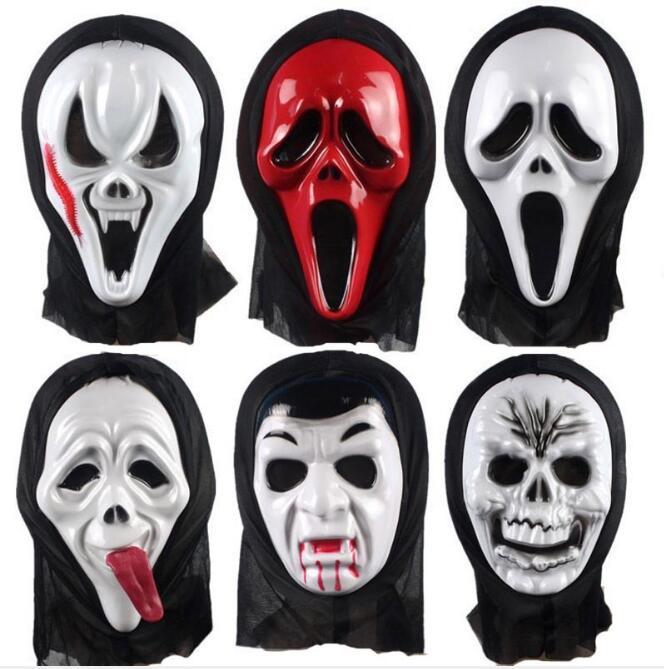 Son Durak Kostüm Partisi Prop Şenlikli Parti HA980 Malzemeleri Monocle Korku Hayalet Çığlık Yüz Dans Parti Maskeler Maske