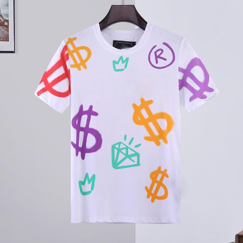 tiger designer T Shirts Mans Summer Basic Solid crystal print letter brand T-shirt Casual Punk tops Tee luxury clothing short sleeve M-3XL