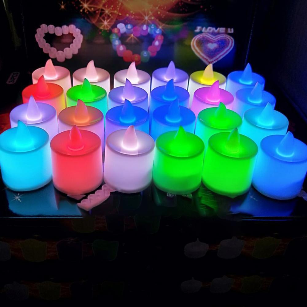 3,5 * 4,5 centimetri LED Tealight del tè candele senza fiamma della luce a pile di compleanno di cerimonia nuziale decorazione della festa di Natale