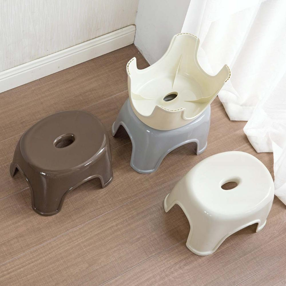 New Japan Style Thicken Plastic Stools Living Room Non-slip Bath Bench Children Stool Changing Shoes Stool Kids Furnitur