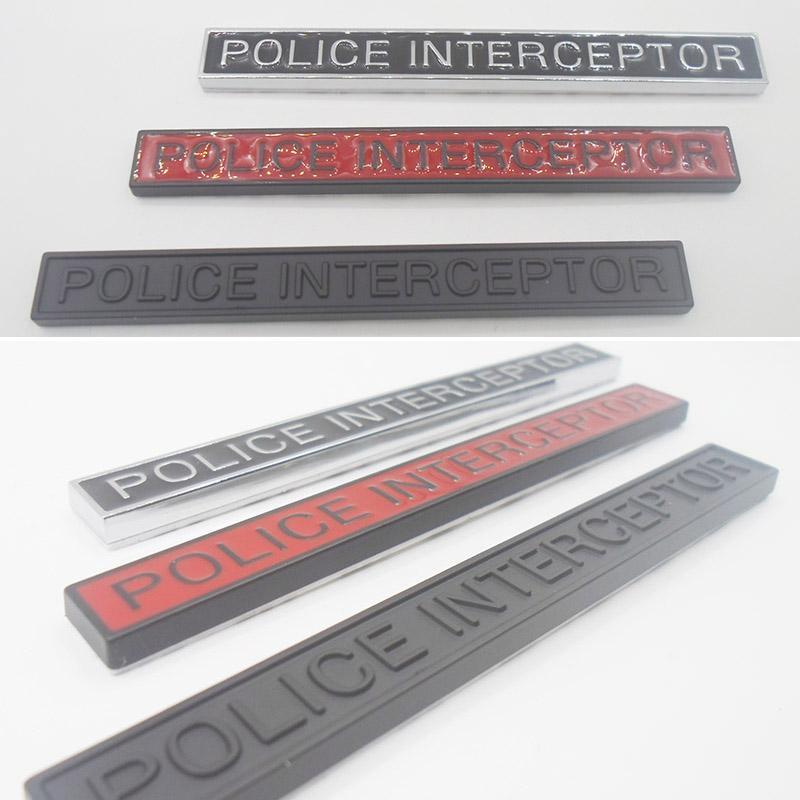 2pcs / set di coda Vandura espresso Pontiac Sebring Ford Car Styling Polizia Chi intercetta Badge Fender porta tronco Emblem Sticker