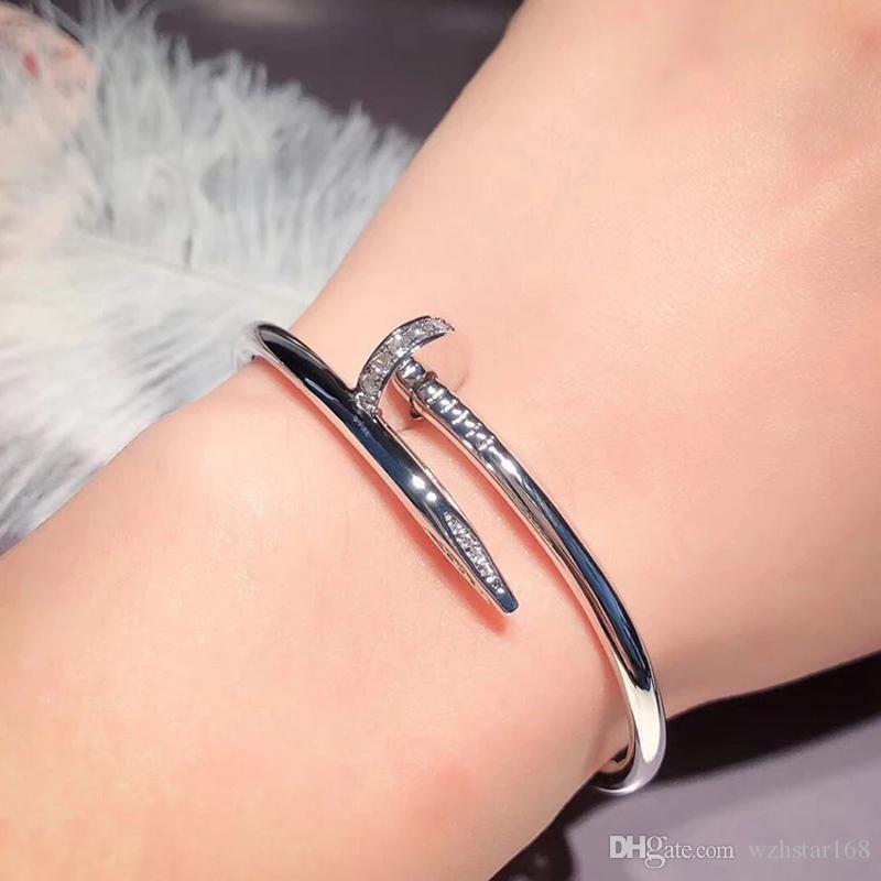 2020 Luxus-Modeschmuck neue Art Silber Rose Gold Frauen-Diamant-Armbänder Iced Out Anhänger Männer Armbänder Schmuck Qualitäts-Armband