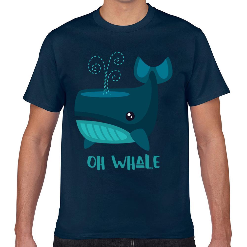 Топы Футболка Мужчина ой кит Смешное Vintage Пользовательская Мужской Tshirt