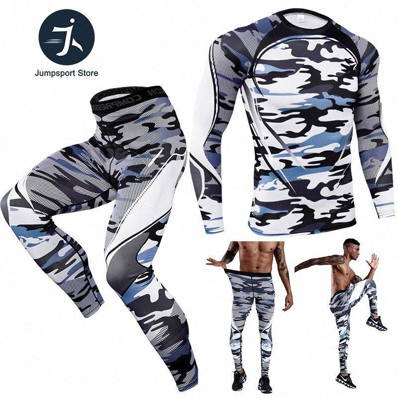 2020 2020 novos homens / mulheres de compressão conjunto de execução calças justas Workout Academia Training Treino mangas compridas camisas Suit Sport Rashgard 3XL xNz0 #