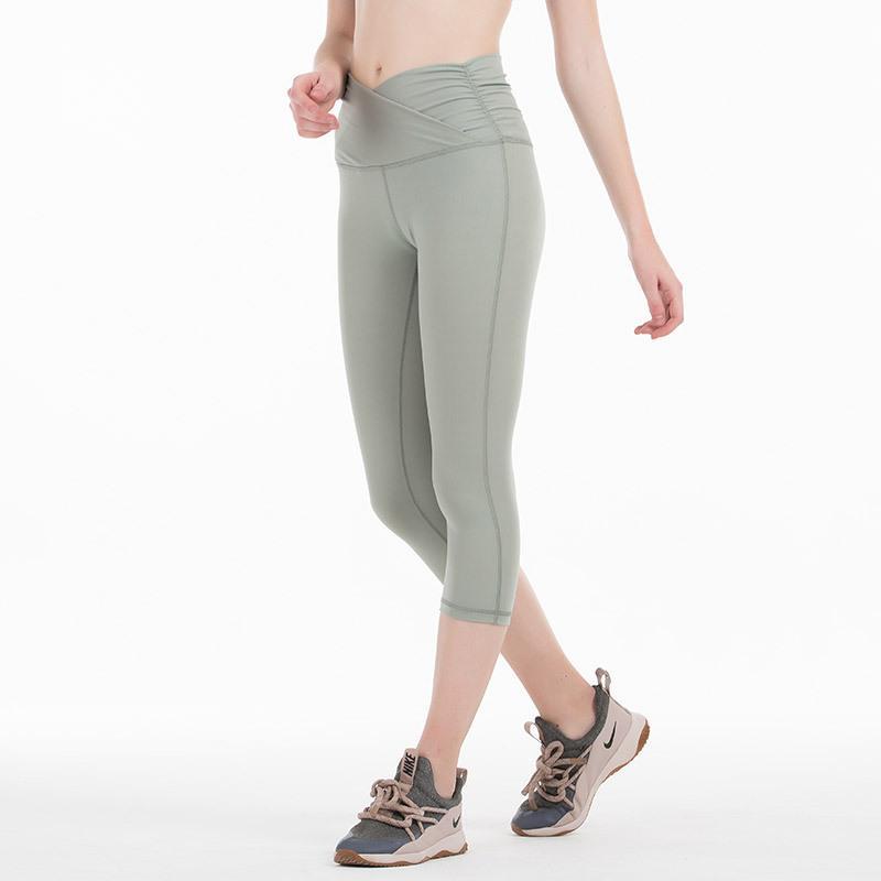 Yoga Kıyafetler Jogging Taytsports Tayt Pantolon Yüksek Bel Sıkı Kadın Spor Salonu Push Up Koşu Egzersiz Pantolon MVSYO