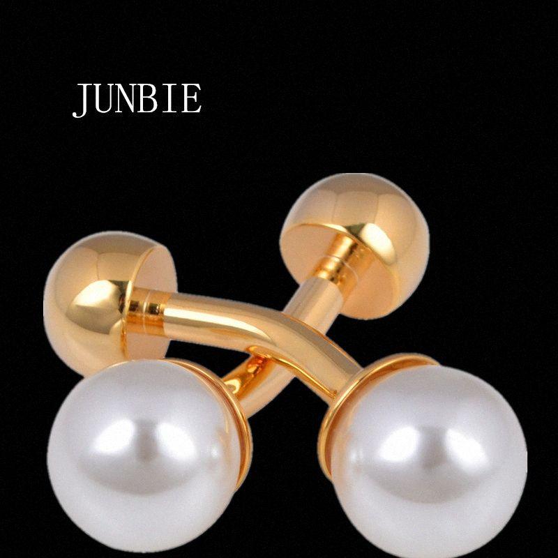 JUNBIE Gioielli camicia francese gemello per mens polsini con un bottone collegamento maschio nuziale di alta qualità libera di trasporto MhEu #