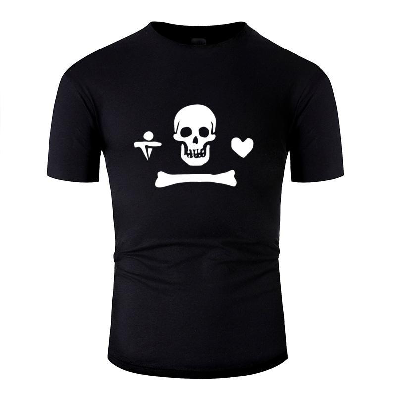 Stede Bonnet Tişörtü Adam Harf Komik Yenilikçi Erkek T Shirt Mürettebat Boyun Gents Kısa Kollu Hip Hop Bayrağı