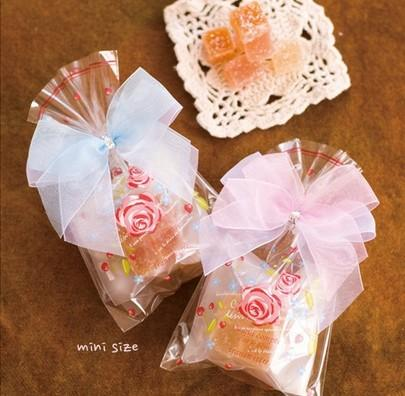 Novas 200pcs DIY / rosas cor de rosa muito bonito claras topo Snack sacos / Adorável Biscuits Pão Biscoito Saco do presente 9 * 15 centímetros Atacado