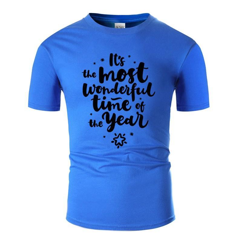 Yeni Stil Gömme Noel Harfler Tişört İçin Erkekler% 100 Pamuk Grafik Yuvarlak Yaka Elbise Boş Erkekler T Shirt