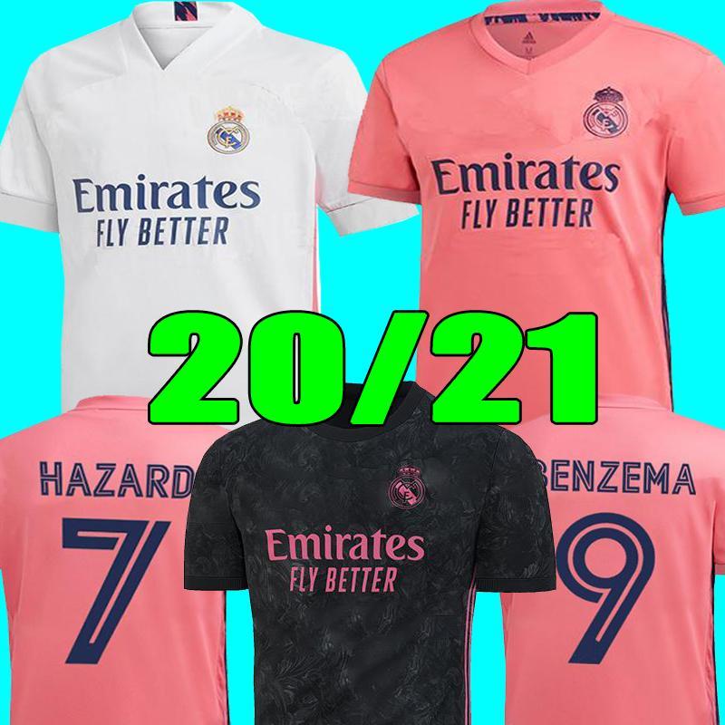 كرة القدم بالقميص ريال مدريد 20 21 HAZARD يوفيتش BENZEMA camiseta دي فوتبول 2020 قميص 2021 VINICIUS RODRYGO مودريتش كرة القدم