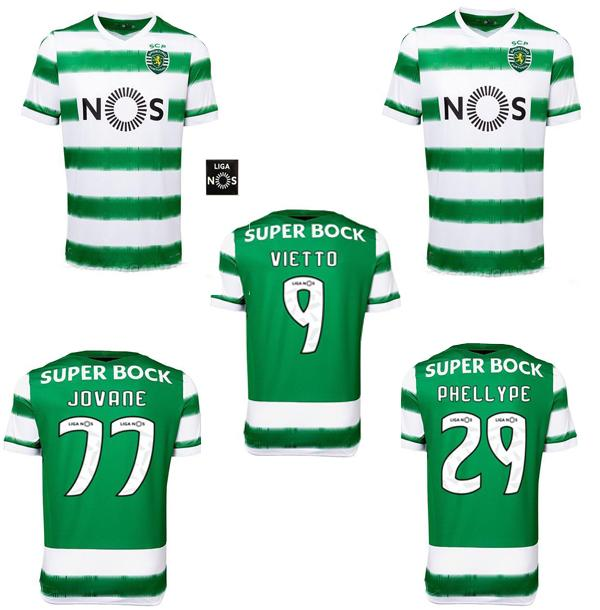 Top Sporting CP 20 21 Lisboa Soccer Jerseys Vietto Caults Acuna Home 2020 2021 Sporting Clube de Футбол Рубашка Maillot de Foot Таиланд