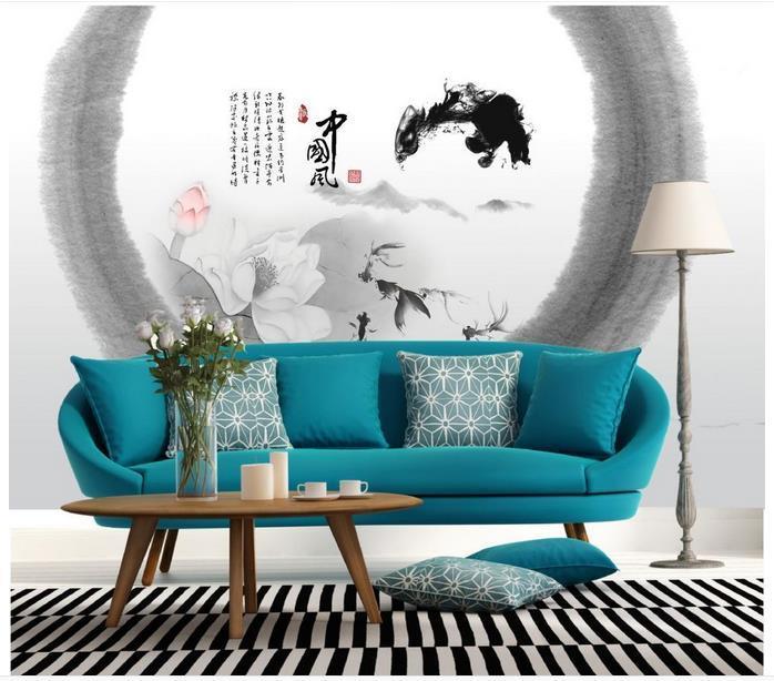 High-End-kundenspezifische 3D-Fototapete Tapeten Tapeten im chinesischen Stil 3D Wohnzimmer Tapete Hintergrund Wand Wohnkultur