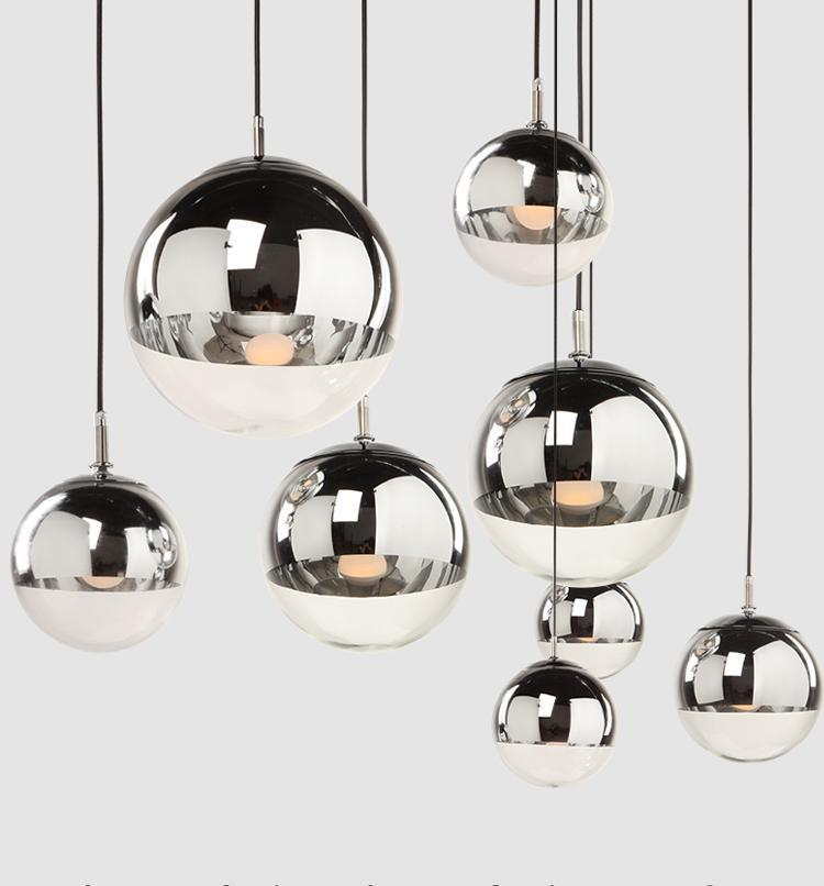 LED Pendant Light Mirror Ball Lamp Electroplating Light Chandelier Lights Indoor Lamps Lighting Hotel Living Room Office