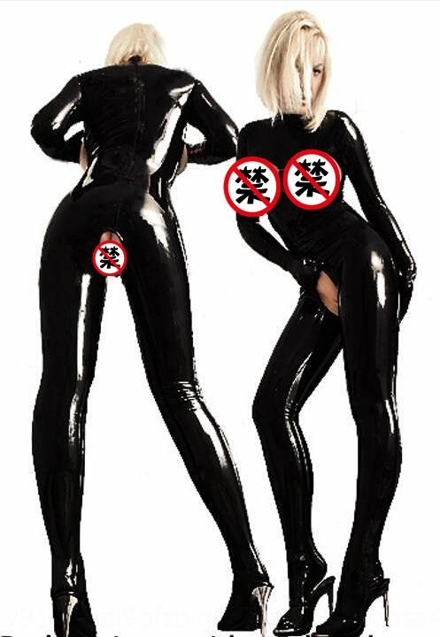 iq55S io6dC game painted leather clothing open crotch demuly Halloween uniform pole dance Leather clothing Body clothes body tight clothes ju