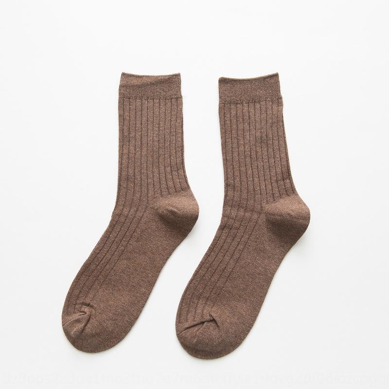Ek0lm Grund feste Farbe Business-Sport-Freizeit-Socken zur Mitte der Wade Grundnormallack Männer Das Geschäft der Männer Sport-Freizeit-Strümpfe stockingsSock