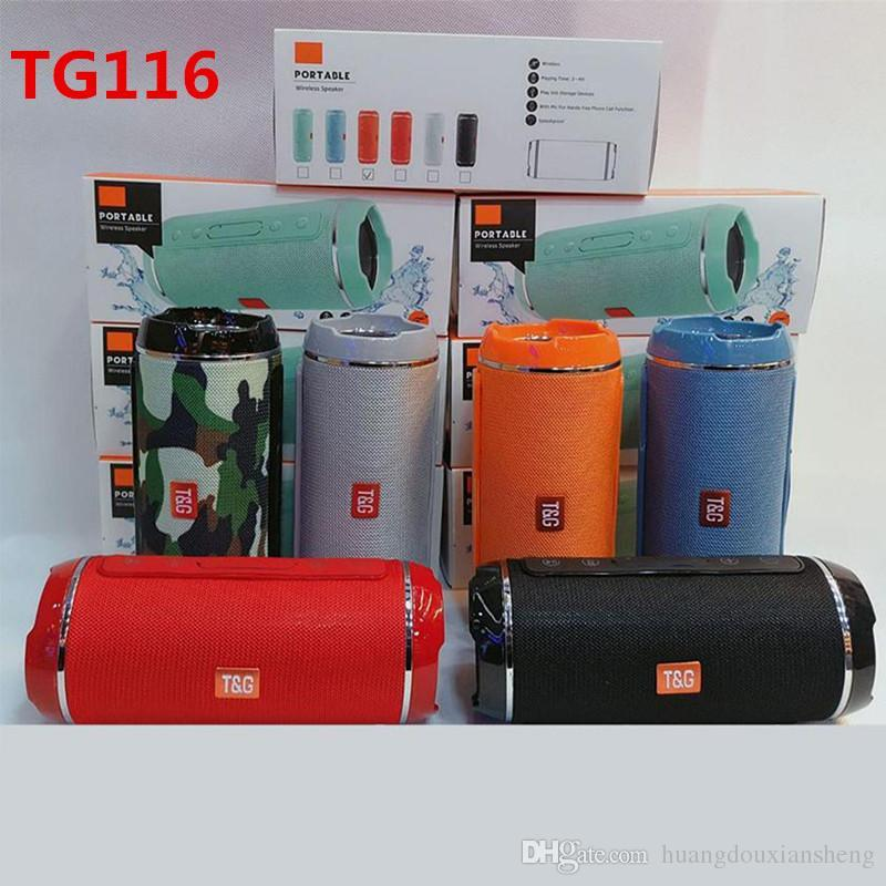 TG116 Double Horn Cloth Net Bluetooth Wireless Speaker Mini Portable Speaker Support TF Card Hand-free Mic Stereo For Mobile Phone