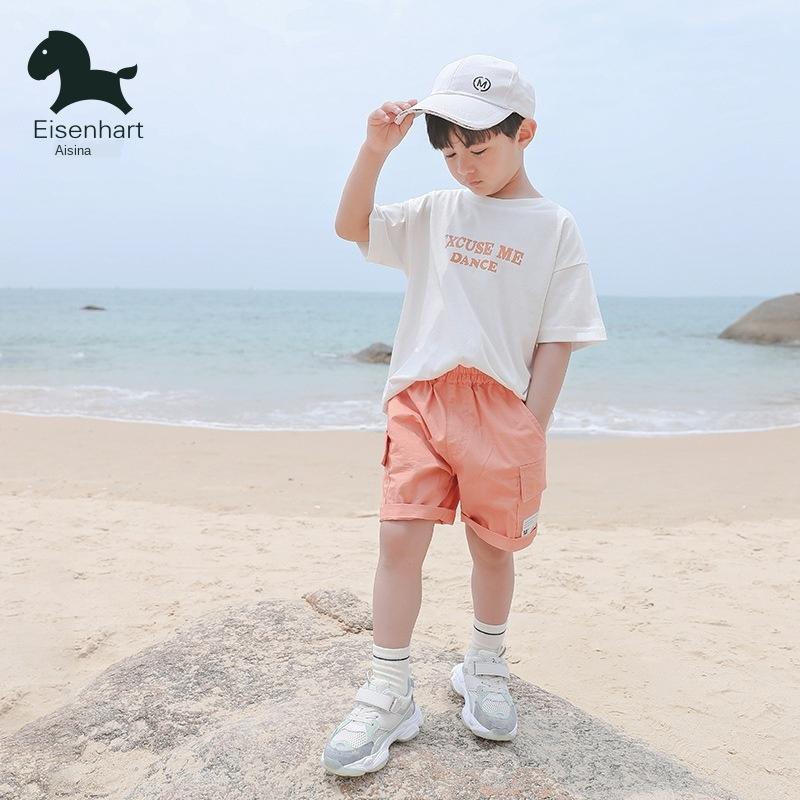EfWGE vêtements boyssuit 2020 été nouveau moyen grand court mode manches pour enfants deux pièces costumes pour les garçons et les filles de sui de girlsChildren