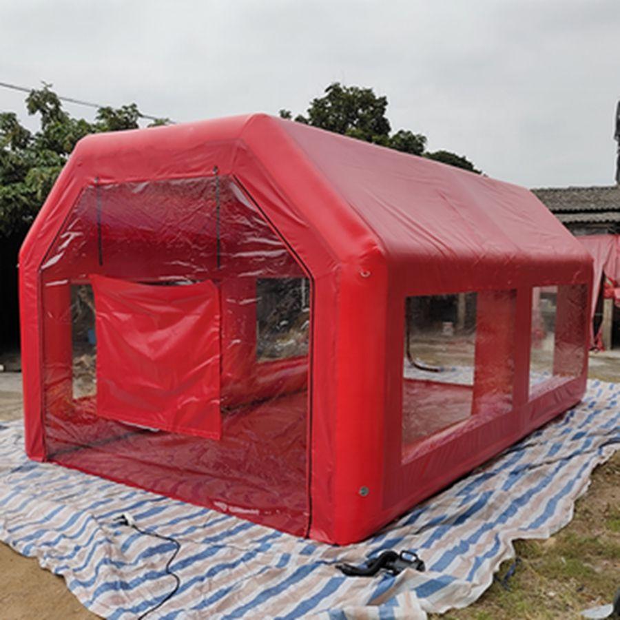 6x3.5x2.7m محكم رذاذ كشك سيارة نفخ اللوحة خيمة مختومة أنبوب مكان العمل غسيل السيارات مع مرشحات للولايات المتحدة، NL، CA