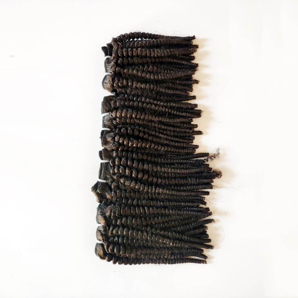 Black woman Unprocessed Brazilian Virgin hair Afro 4c Kinky Curly best quality durable Indian remy Hair weft For Sale Factory Price 3pcs/lot