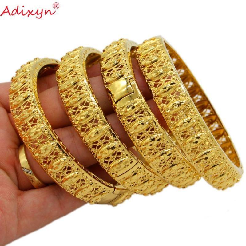 Adixyn может открыть 4шт / много цвета золота Эфиопский Дубай Африка браслет невесты Свадебный браслет ювелирных изделий для женщин / мужчин N071031