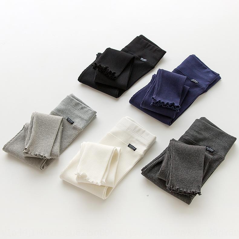 sGBzl tqM1x 2020 Primavera desgaste exterior das mulheres e 2020 grandes calças tamanho outono do algodão fina cintura alta estilo Leggings coreano emagrecimento nova legging