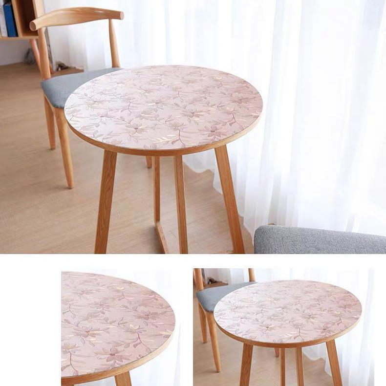Clear Frosted PVC Tablecloth Transparent Table Cloth Round Cover 1.5mm Table Protection Cover colorful matt table protector free shipping