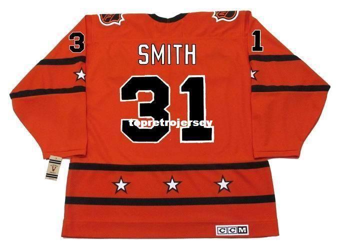 "Оптовый Mens BILLY SMITH 1978 CCM Vintage Дешевый ""All Star"" Ретро хоккей Джерси"
